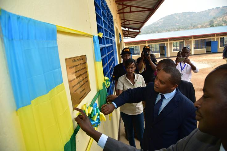 Inauguration of Gatebe Primary School in 2016, One of several community-based projects directly benefiting communities living around parks