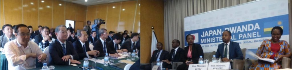 Japan High level delegation meeting with Ministers during the Japan-Rwanda Ministerial panel.jpg