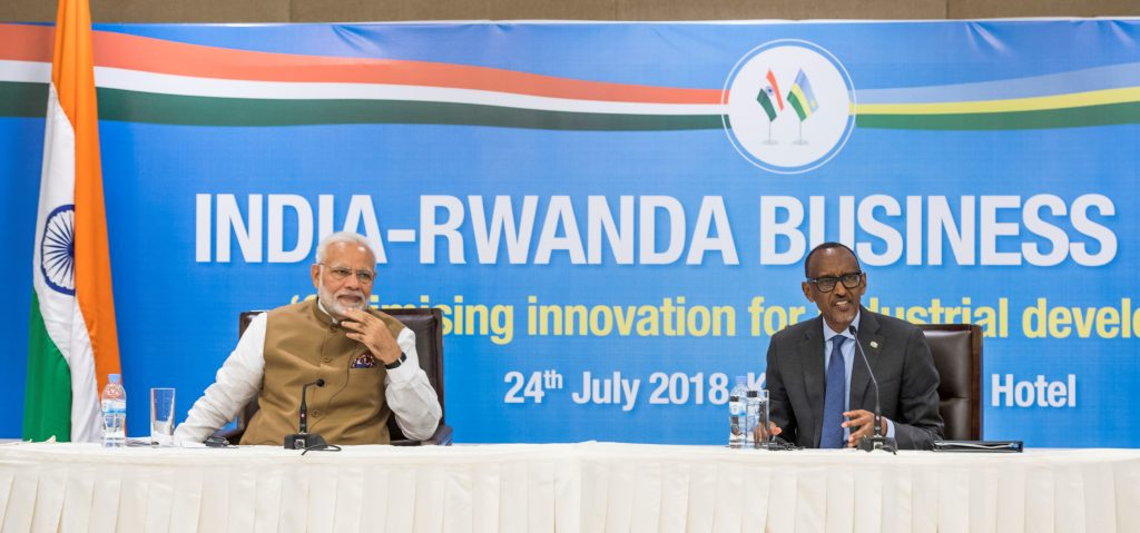 President Paul Kagame and Prime Minister Narendra Modi officiated at the India-Rwanda Business Forum