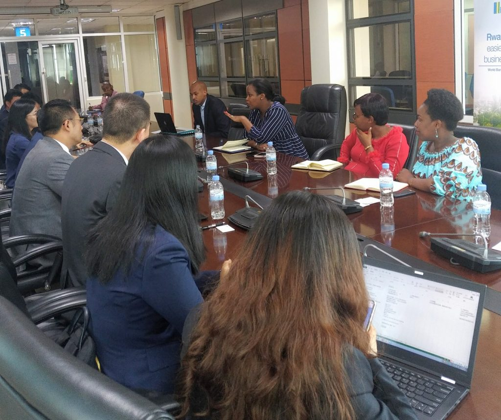 CEO Clare Akamanzi discussing with Alibaba high level delegation in Kigali on increasing exports to China