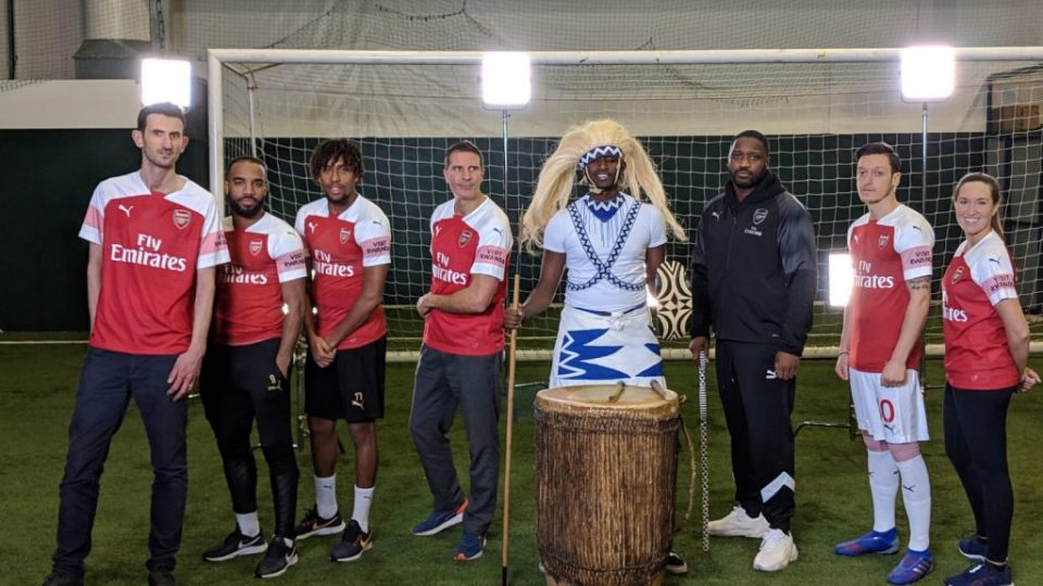 Rwanda Champions Challenge brought together three Arsenal fans, three Arsenal first-team players, Mesut Ozil, Alexandre Lacazette and Alex Iwobi and UK music artist Lethal Bizzle