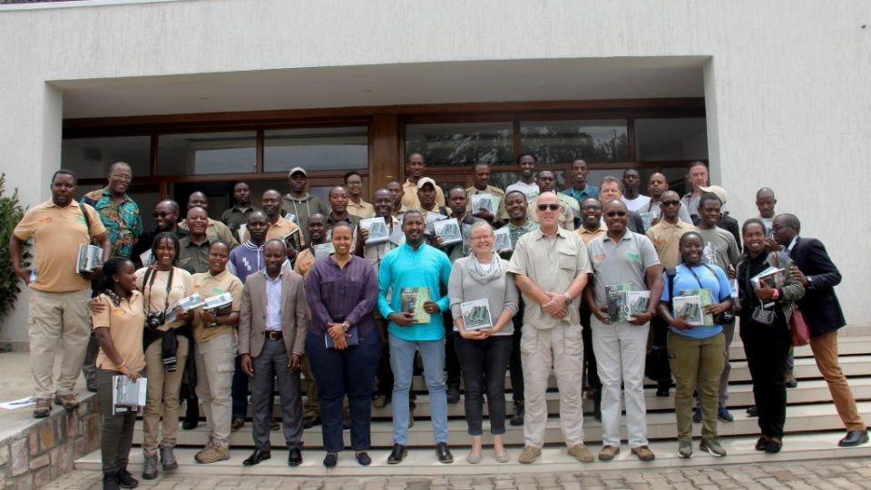 The guides pose for a group photo with RDB GIZ and RTTA staff before the training exercise commenced on Friday