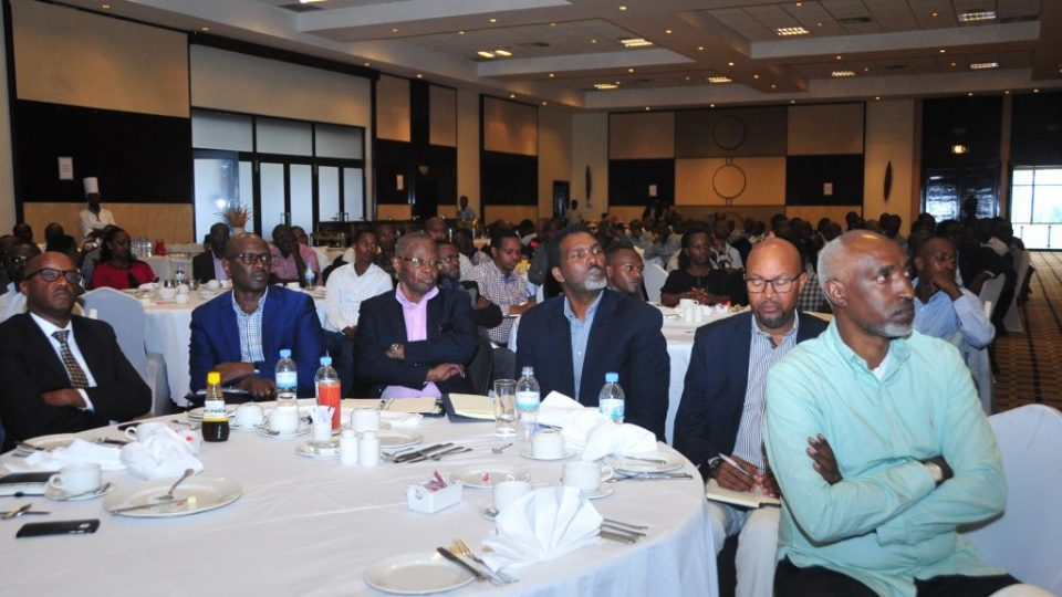The workshop brought together different stakeholders from the construction sector including architects and engineers