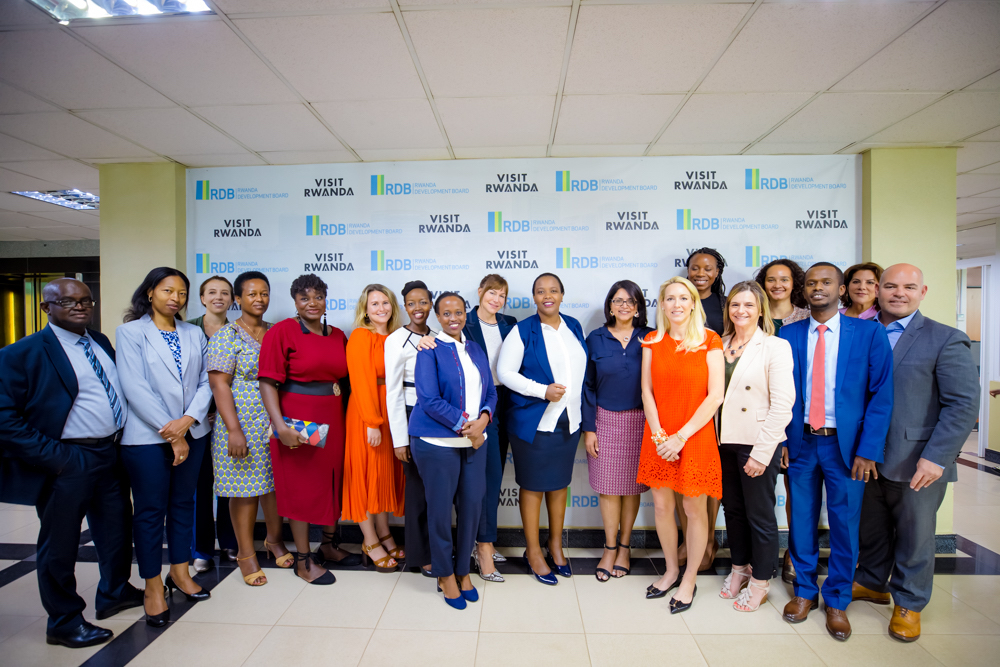 Cherie Blair is leading a delegation of 9 women business leaders who met with government officials at RDB today