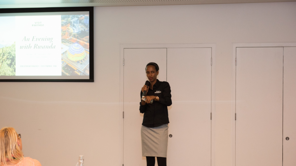 An Evening with Visit Rwanda at WTM London – CTO Belise Kariza welcome guests