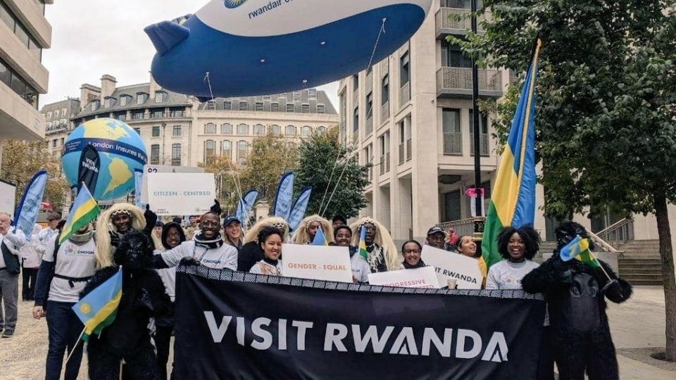 We are showcasing RwandAir at today's Lord Mayor's Show. Rwandair connects Kigali to London with three flights a week.