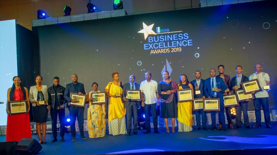 RDB (Rwanda Development Board) awarded 11 local businesses during the 7th edition of the RDB Business Excellence Awards.