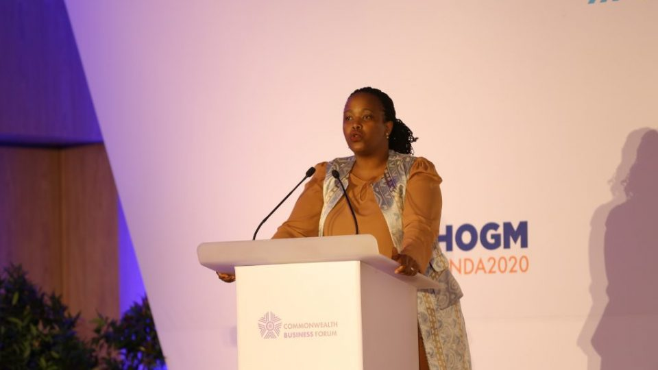 RDB CEO, Clare Akamanzi presented some of the business and investment opportunties private sector members stand to benefit from in the upcoming Commonwealth Business Forum to be held in Kigali