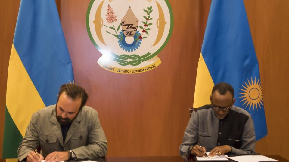 Rwanda's president Paul Kagame became the sixth African Head of State to join the Giants Club when he signed the forum's Declaration